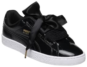 Puma Women Basket Heart Patent Wn s Walking Shoes ( Black )