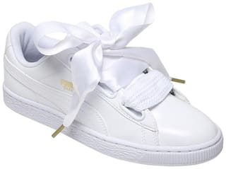 Puma Women's Basket Heart Patent Wn s White Sneakers