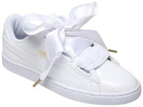 Puma Women's Basket Heart Patent Wn s White Sneakers