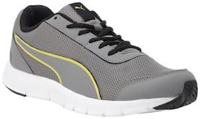 Puma Men Bent IDP Charcoal Gray-Blazing Yellow-Pu Running Shoes ( Grey )