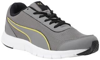 Puma Men Bent IDP Charcoal Gray-Blazing Yellow-Pu Running Shoes ( Grey )