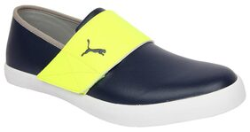 Puma Unisex El Rey Milano II IDP H2T New Navy, Safety Yellow and Black Sneakers - 9 UK/India (43 EU)