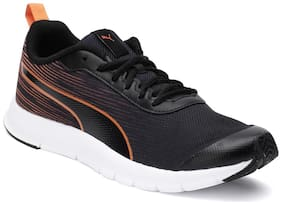Puma Men Brisk FR MU IDP Black-Vibrant Orang Running Shoes ( Black )