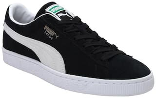 Puma Suede Classic XXI Classic Sneakers Shoes For Men (Black)
