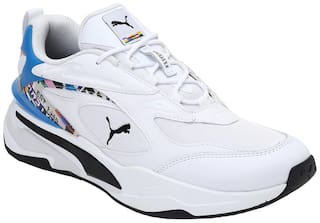 Puma RS-Fast INTL Game Chunky Sneakers Shoes For Men (White)