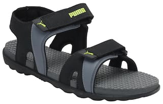 6514f3a39362 Buy Puma Men Black Sandals   Floaters Online at Low Prices in India ...