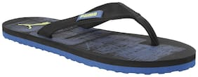 Puma Men's Contour IDP Black-Galaxy Blue-Limep Black Flipflops