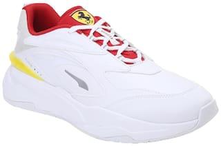 Puma Ferrari RS-fast Classic Sneakers Shoes For Men (White)