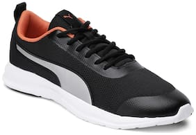 Puma Men Flex EL MU IDP Black-Jaffa Orange Running Shoes ( Black )