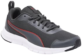 Puma Men Hurdler IDP Dark Shadow-High Risk Red Running Shoes ( Grey )