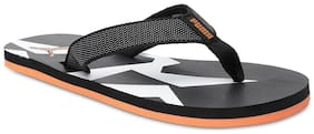 Puma Men's James IDP Black-Grey Dawn-Vibrant O Black Flipflops