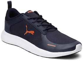 Puma Men Jaunt IDP Peacoat-Jaffa Orange Running Shoes ( Blue )