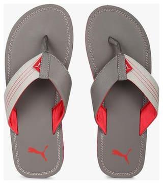 Puma Ketava Grey Red Slippers