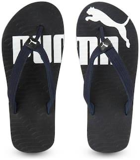 Puma Men Black Slippers & Flip Flops