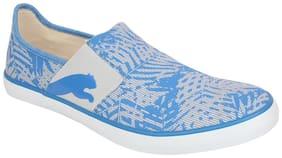 Puma Lazy Slip On Graphic DP Men Blue Sneakers -