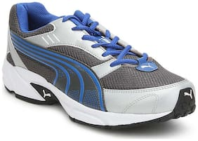 Puma Men Pluto DP Silver and Blue Running Shoes