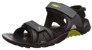 ef328b0b2a19 Puma Men s Comfy DP Black Dark Shadow and Lime Punch Sandals and Floaters -  6 UK
