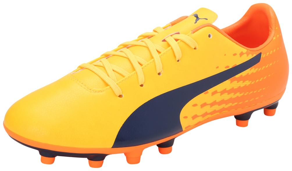 Puma Men evoSPEED 17.5 FG Football Shoes   Yellow   by Shoe Junction