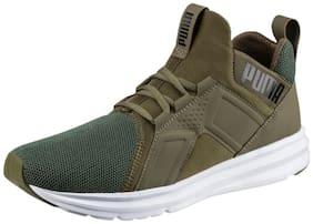 Puma Men's Enzo Mesh Olive Running Shoes