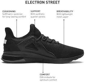 Puma Men Electron Street Running Shoes ( Black )