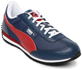 Puma Men's Insignia Blue, High Risk Red and White Sneakers - 10 UK/India (44.5 EU)