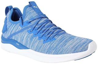 new styles 7c75f cf8c4 Puma Men's IGNITE Flash evoKNIT Blue Football Shoes for Men ...