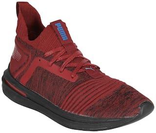 best cheap ef16e c907e Puma Men's IGNITE Limitless SR evoKNIT Maroon Football Shoes ...