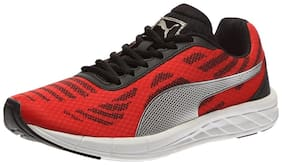 Puma Men'S Meteor High Risk Red, Puma Silver And Puma Black Running Shoes - 8 Uk/India (42 Eu)