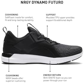 Puma Men's NRGY Dynamo Futuro Black Walking Shoes