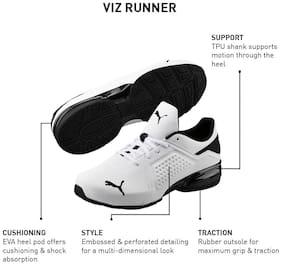 Viz Runner Running Shoes For Men ( White )