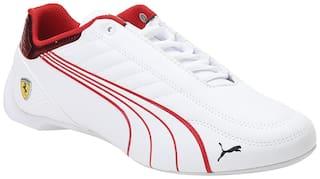 Puma Ferrari Race Future Kart Cat Classic Sneakers Shoes For Men (White)
