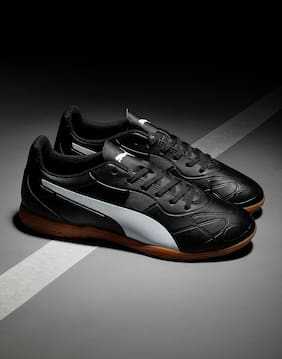 Puma Men Monarch IT Football Shoes ( Black )