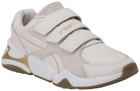 Puma Women Cream Sneakers