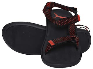 6fa03293ebe5 Buy Puma Men Black Sandals   Floaters Online at Low Prices in India ...
