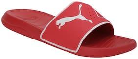 Puma Unisex Red Sliders - 1 Pair