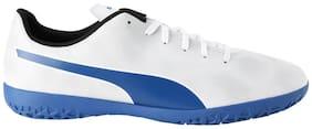 PUMA Rapido IT Puma White-Royal Blue-Light Gr Men Football Shoes