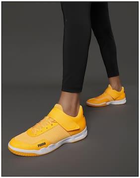 Puma Men Rise XT EH 4 Badminton/Squash Shoes ( Orange )