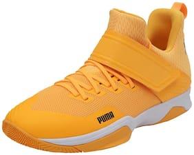 Puma Unisex Rise XT EH 3 Badminton/Squash Shoes ( Orange )