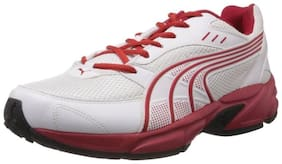 Puma Storm Ind White And Red Sports Shoes
