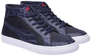 PUMA Synthetic Low Ankle Hip-Hop Mid Knit Styx IDP Peacoat-Ribbon Classic For Men
