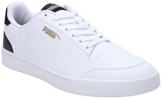 Puma Shuffle Classic Sneakers Shoes For Men (White)