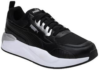 Puma X-Ray  Square Metallic Chunky Sneakers Shoes For Men (Black)