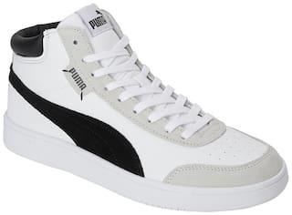 Puma Court Legend SL Collar Classic Sneakers Shoes For Men (White)
