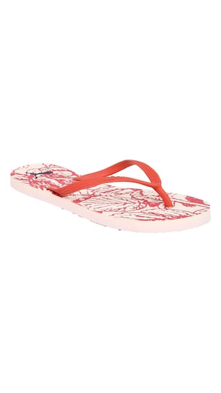 Buy Puma Women Pink Synthetic Leather Flip Flops Online at Low ... 340d32fe86