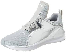Puma Women's Fierce Low Metallic WNS Silver and White Multisport Training Shoes - 4 UK/India (37 EU)