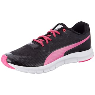 Buy Puma Women Black   Pink Running Shoes Online at Low Prices in ... d9ea45c14
