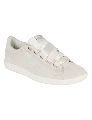 Buy Puma Women s Puma Vikky Ribbon S White Sneakers Shoes Online at ... 37cb04ad5