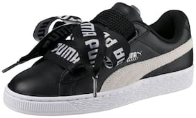 Puma Women's Basket Heart DE Wn's Black Sneakers Shoes