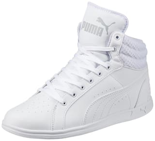 meilleures baskets f9c27 a0324 Buy Puma Women's Ikaz Mid v2 White Sneakers Shoes Online at ...