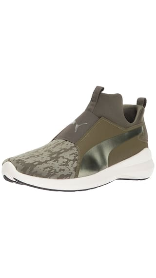 25a04f7a04cb Buy Puma Women s Rebel Mid Wn s VR Olive Running Shoes Online at Low ...